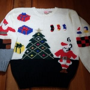 """Vintage Fetagetti """"ugly"""" 3D Christmas Sweater"""